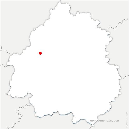 carte de localisation de Saint-Pardoux-de-Drône