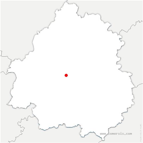 carte de localisation de Saint-Paul-de-Serre