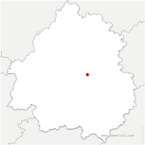 carte de localisation de Saint-Pierre-de-Chignac