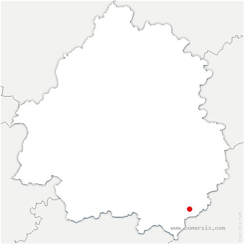 carte de localisation de Saint-Pompont