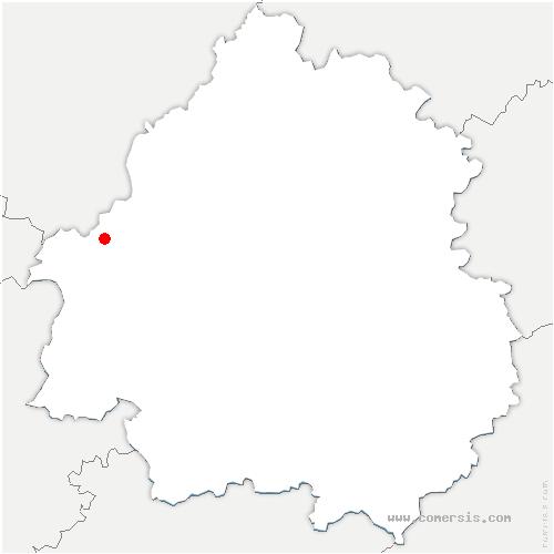 carte de localisation de Saint-Privat-en-Périgord
