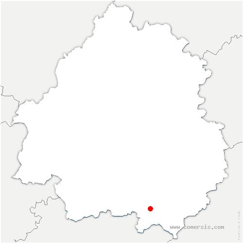 carte de localisation de Saint-Romain-de-Monpazier