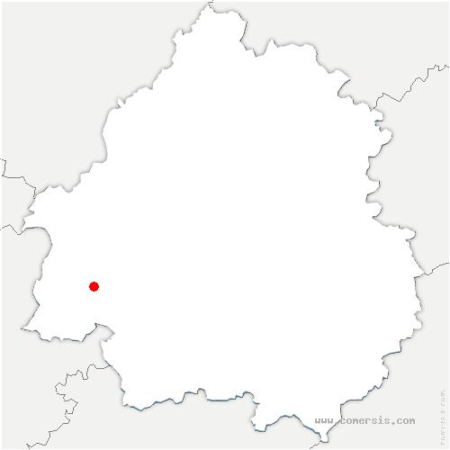 carte de localisation de Saint-Sauveur-Lalande