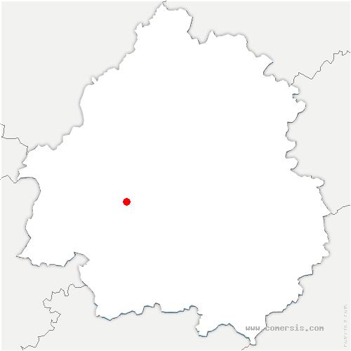 carte de localisation de Saint-Séverin-d'Estissac