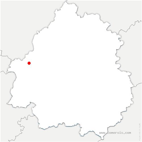 carte de localisation de Saint-Vincent-Jalmoutiers