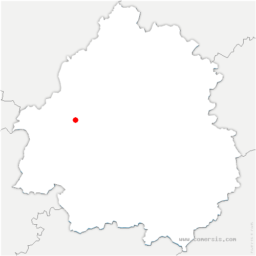 carte de localisation de Saint-Vincent-de-Connezac