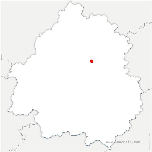 carte de localisation de Saint-Vincent-sur-l'Isle