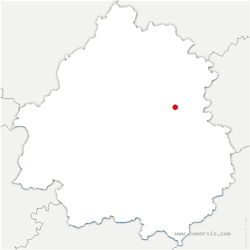 carte de localisation de Sainte-Eulalie-d'Ans