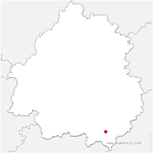 carte de localisation de Sainte-Foy-de-Belvès