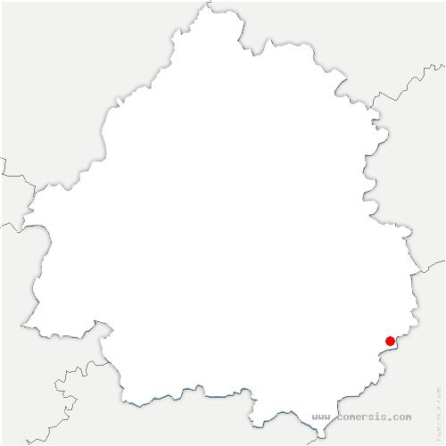 carte de localisation de Sainte-Mondane