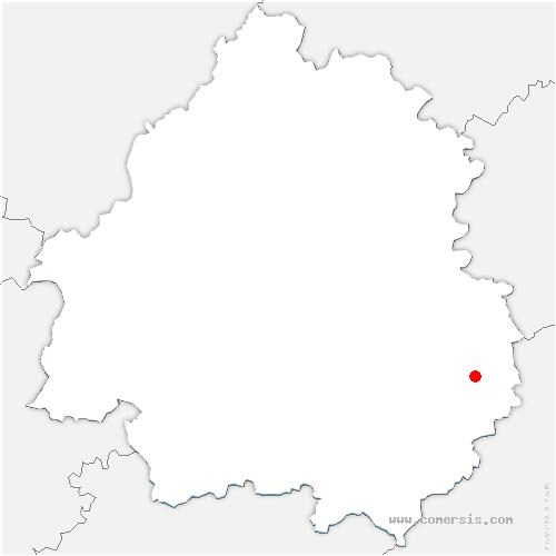 carte de localisation de Sainte-Nathalène