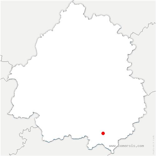 carte de localisation de Salles-de-Belvès