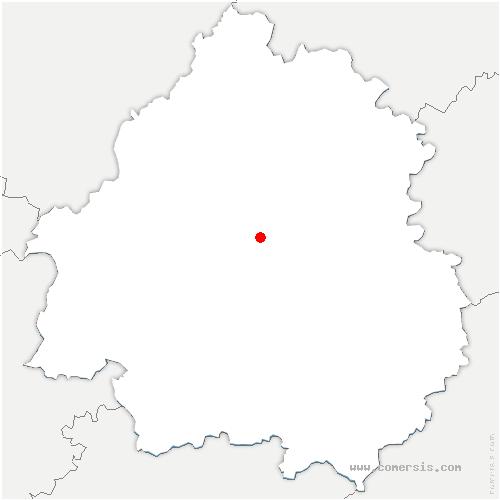 carte de localisation de Sanilhac