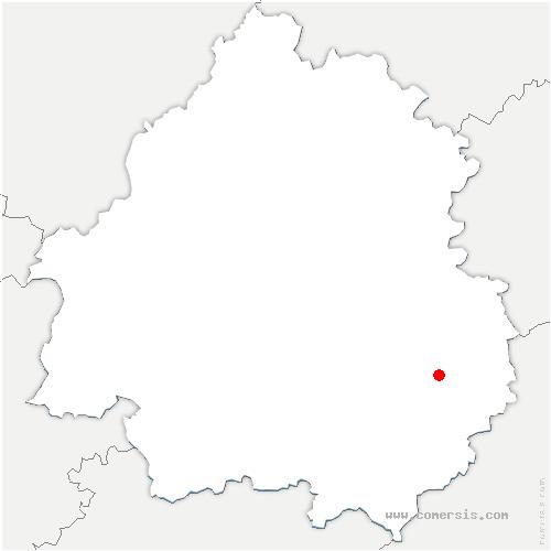 carte de localisation de Sarlat-la-Canéda