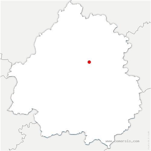 carte de localisation de Sarliac-sur-l'Isle