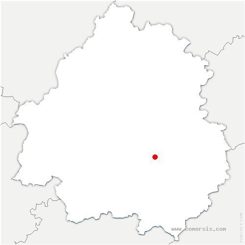 carte de localisation de Savignac-de-Miremont