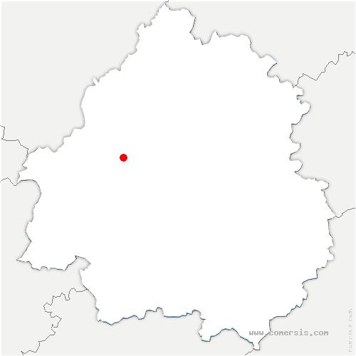 carte de localisation de Segonzac