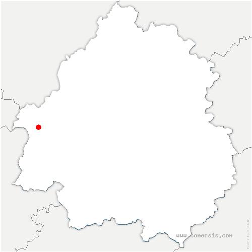 carte de localisation de Servanches