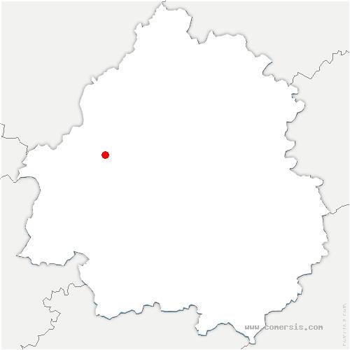 carte de localisation de Siorac-de-Ribérac