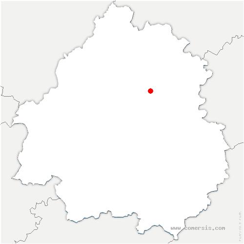 carte de localisation de Sorges-et-Ligueux-en-Périgord