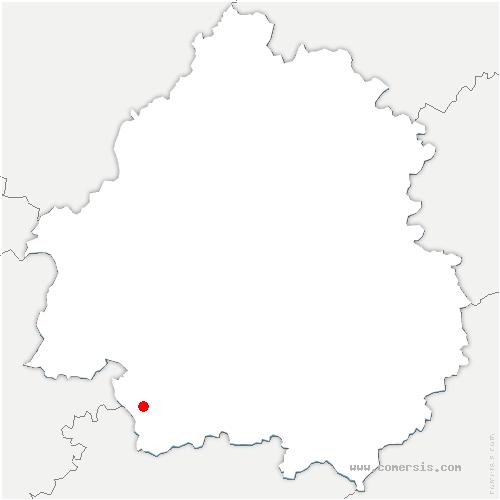 carte de localisation de Thénac