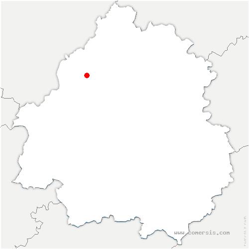 carte de localisation de Tour-Blanche Cercles