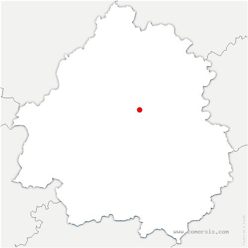 carte de localisation de Trélissac