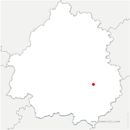 carte de localisation de Tursac
