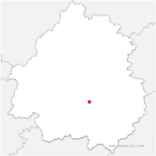 carte de localisation de Val de Louyre et Caudeau