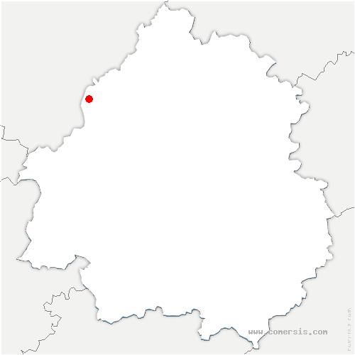 carte de localisation de Vendoire