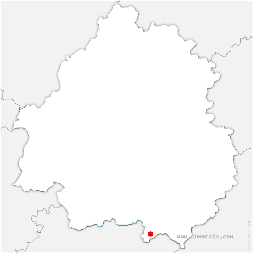 carte de localisation de Vergt-de-Biron