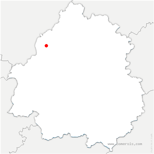 carte de localisation de Verteillac