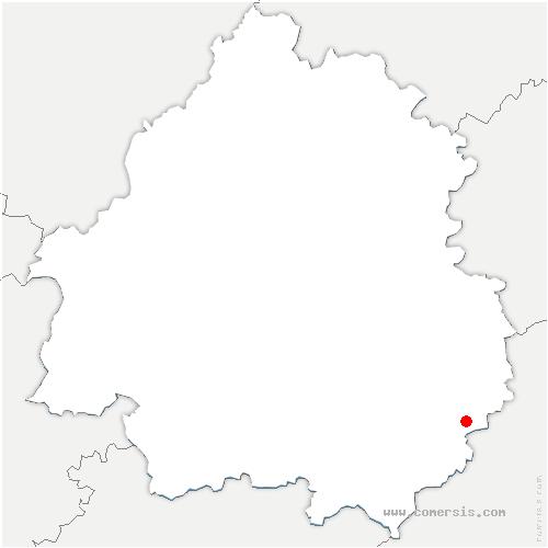 carte de localisation de Veyrignac