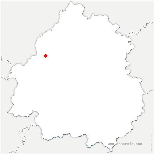 carte de localisation de Villetoureix