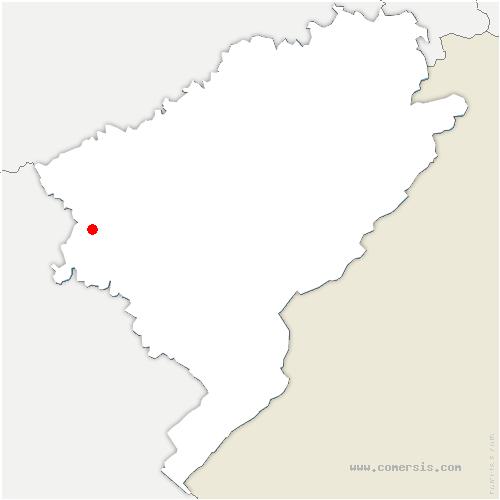 carte de localisation de Abbans-Dessous
