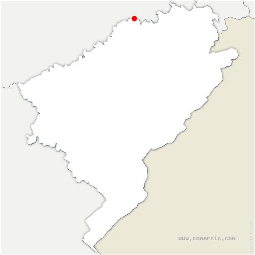 carte de localisation de Abbenans