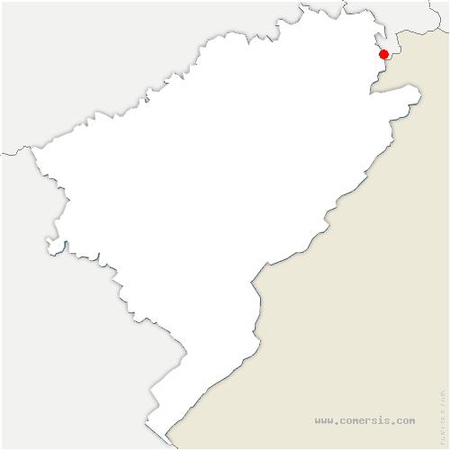 carte de localisation de Abbévillers