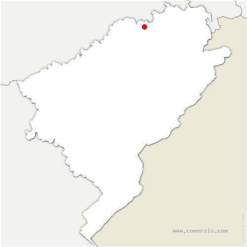 carte de localisation de Accolans