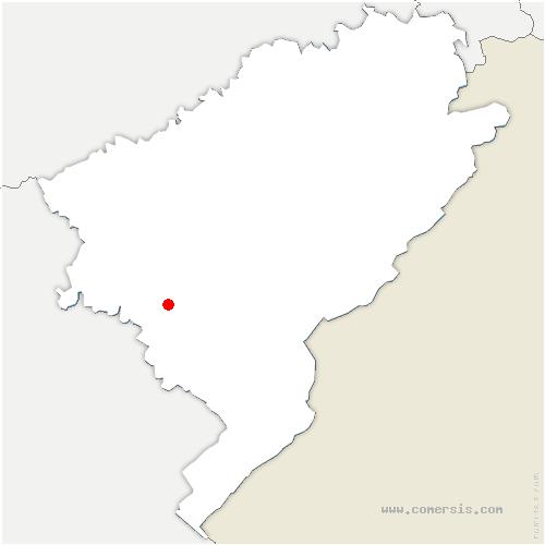 carte de localisation de Amancey