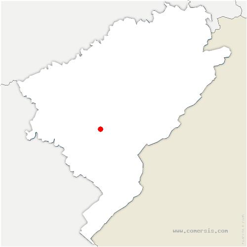 carte de localisation de Amathay-Vésigneux