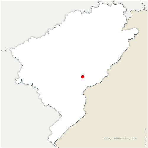 carte de localisation de Arc-sous-Cicon