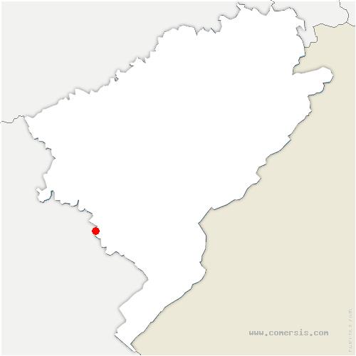carte de localisation de Arc-sous-Montenot