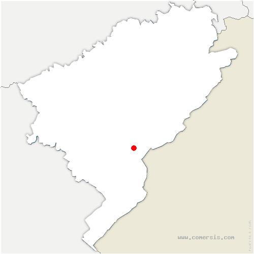 carte de localisation de Arçon