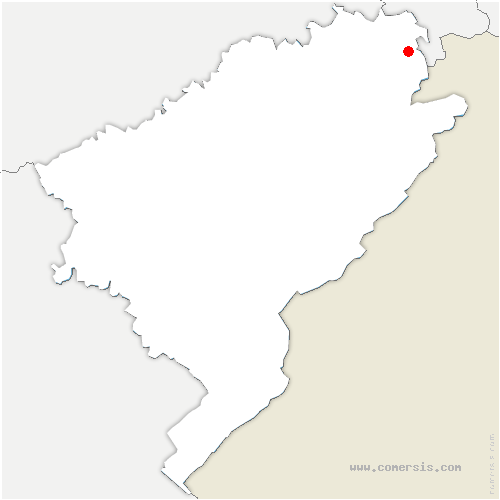 carte de localisation de Audincourt
