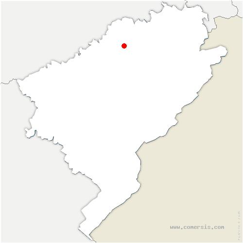 carte de localisation de Autechaux