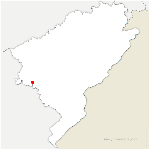 carte de localisation de Bartherans