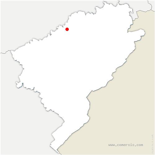 carte de localisation de Battenans-les-Mines