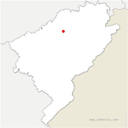 carte de localisation de Baume-les-Dames