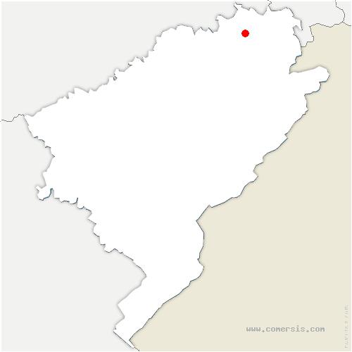 carte de localisation de Bavans