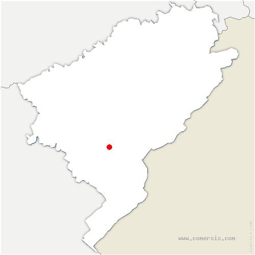 carte de localisation de Bians-les-Usiers